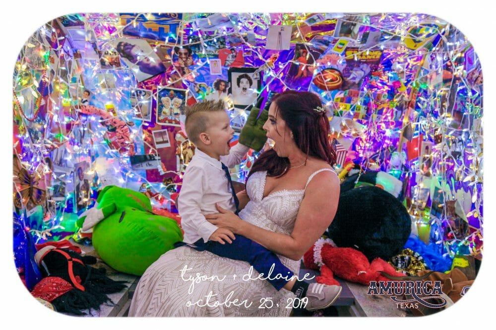 bride and boy